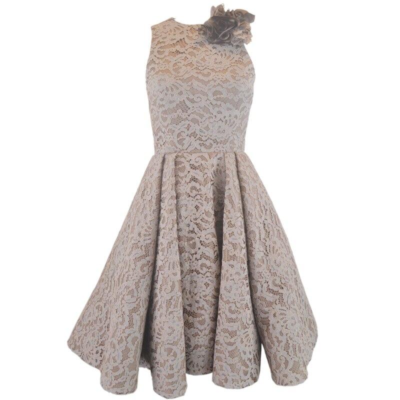 Elegant A line Sleeveless Lace Mother Of The Bride Tea Length Dresses