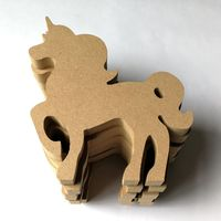 6pcs DIY Wooden Cutouts Horse Embellishments Art Decor Scrapbooking DIY Crafts Christmas Party Decoration