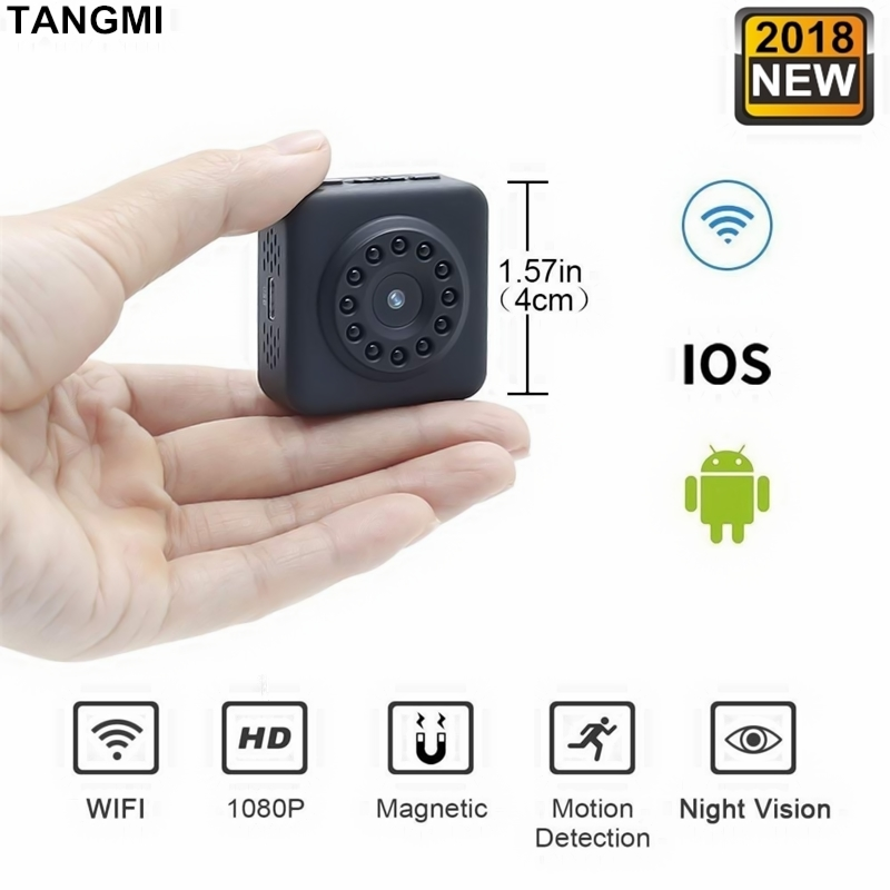 2018 New Full HD Video 1080P DV DVR Mini Camera Wifi Wireless IP Micro Cam Square Body Invisible Night Vision With Motion Sensor