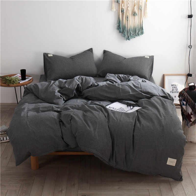 dark grey bedding set luxury cotton 3