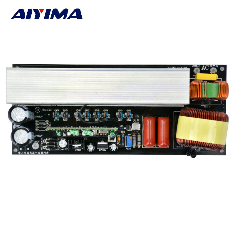 AIYIMA 1pcs 3000W Pure Sine Wave Inverter Power Board Post Sine Wave Amplifier Board Modified inverter wave Post stage plate name machine b 108 circuit no big loop negative feedback pure post amplifier hifi fever grade high power 12 tubes
