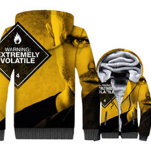 New Arrival Mens Jackets 2018 Winter Zipper Hoodies Male Breaking Bad Sweatshirt Men Hip Hop Coat With Hat TV Yellow Black Tops