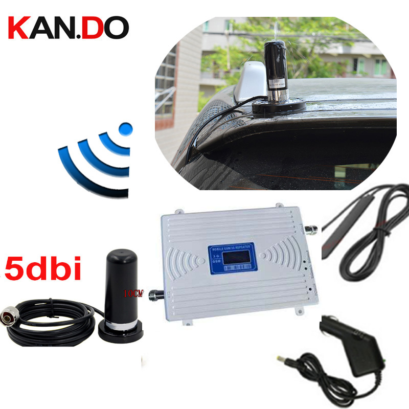 Car Use Dual Band Booster SET Antenna And Cable GSM900Mhz Booster+3G WCDMA 2100Mhz Repeater Gsm 3G Booster Gsm Wcdma Repeater