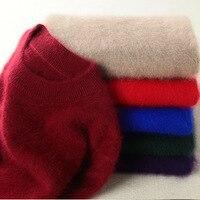 Super Warm Mink Cashmere Soft Fur Fleece Sweaters and Pullovers for Women Winter Sweater Half Turtleneck Female Brand Jumper