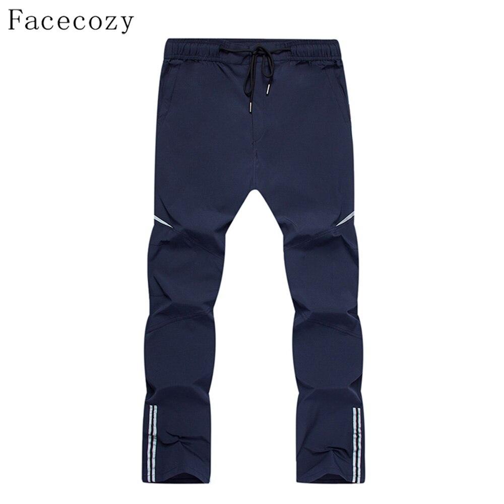 Мужские быстросохнущие брюки Fececozy, эластичные нейлоновые Светоотражающие Полоски, для походов и кемпинга, для лета