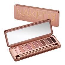 Urban Decay NAKED 3 палитра теней 12 цветов пигменты для макияжа водонепроницаемые профессиональные мерцающие тени для век макияж Палитра