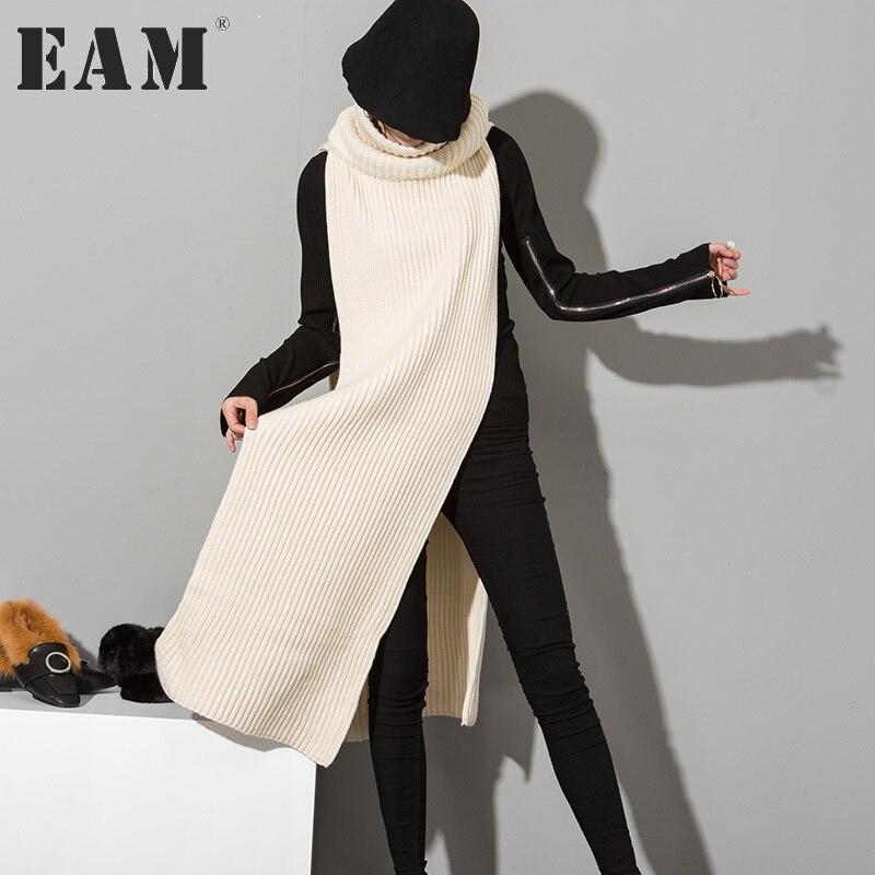 [EAM] 2018 New spring Korean fashion solid college wind big s