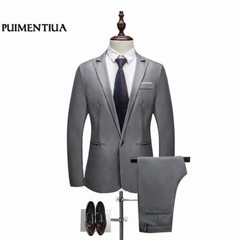 Bridegroom Wedding Prom Suits Male Blazers Slim Fit Suits Business Dress