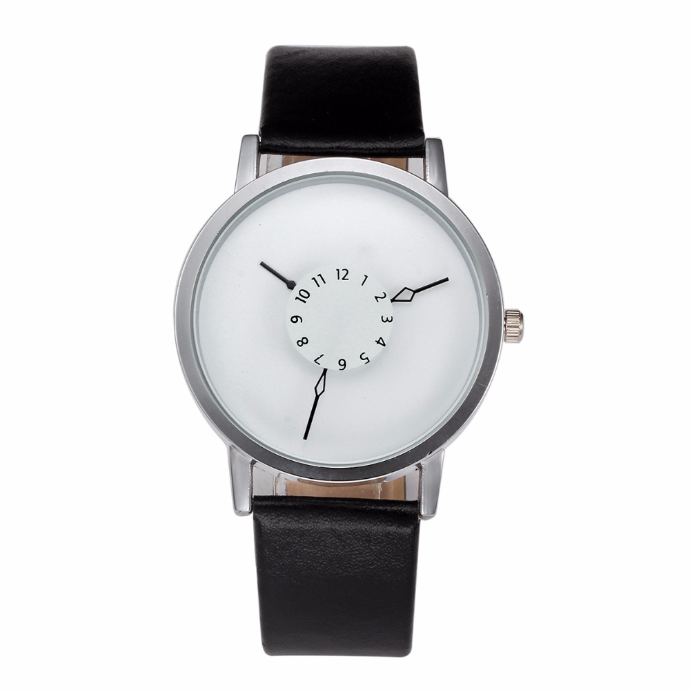 100pcs/lot womage-1342 fashion new arrival leather watch Turntable pointer casual watch for unisex wrap quartz lover's watch