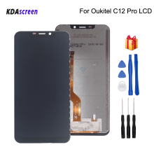 Original For Oukitel C12 Pro LCD Display Touch Screen Assembly For Oukitel C12 Pro Screen LCD Display Phone Parts Free Tools