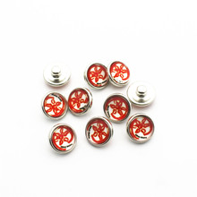 Hot selling 20pcs/lot 12mm Glass Snap Buttons Fit  DIY Snap Bracelet Snap Button Charms Jewelry hot selling 20pcs lot flower metal crystal alloy button 12mm snap buttons fit diy snap bracelet snap button charms jewelry
