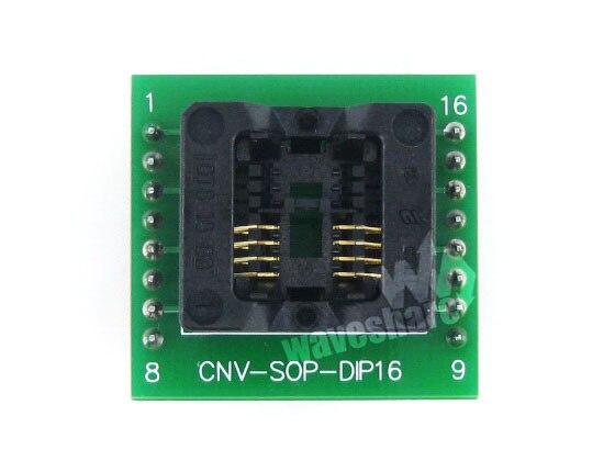 Waveshare البرمجة محول enplas ic sop8 إلى dip8 اختبار حرق في sockfor حزمة sop8 so8 soic8