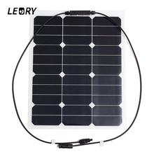 LEORY 35W 18V Solar Panels Monocrystalline Sunpower Chip Profession DIY Solar Cells For Battery Charger