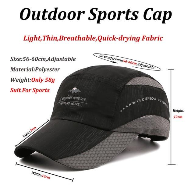 Kioninai 2018 Summer Ourdoor Sports Cap Men Quick-drying Thin Light Breathable Snapback Hat Male Hiking Fishing Basebabll Cap 5