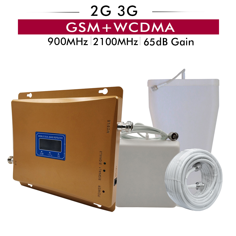 65dB Gain LCD Display Dual Band Booster 2G GSM 900+3G UMTS WCDMA 2100 Mobile Cellphone Signal Repeater GSM 900 2100 3G Amplifier65dB Gain LCD Display Dual Band Booster 2G GSM 900+3G UMTS WCDMA 2100 Mobile Cellphone Signal Repeater GSM 900 2100 3G Amplifier