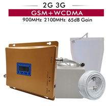 65dB Gain LCD Display Dual Band Booster 2G GSM 900+3G UMTS WCDMA 2100 Mobile Cellphone Signal Repeater GSM 900 2100 3G Amplifier sapsan rm 01 пульт постановки снятия к gsm pro 2 5 6 3g cam