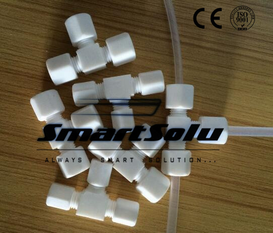 Free shipping 10pcs/lot PTFE equal tee fittings O.D. 12mm-12mm tube plastic fittings уплотнитель ptfe 58 80 12