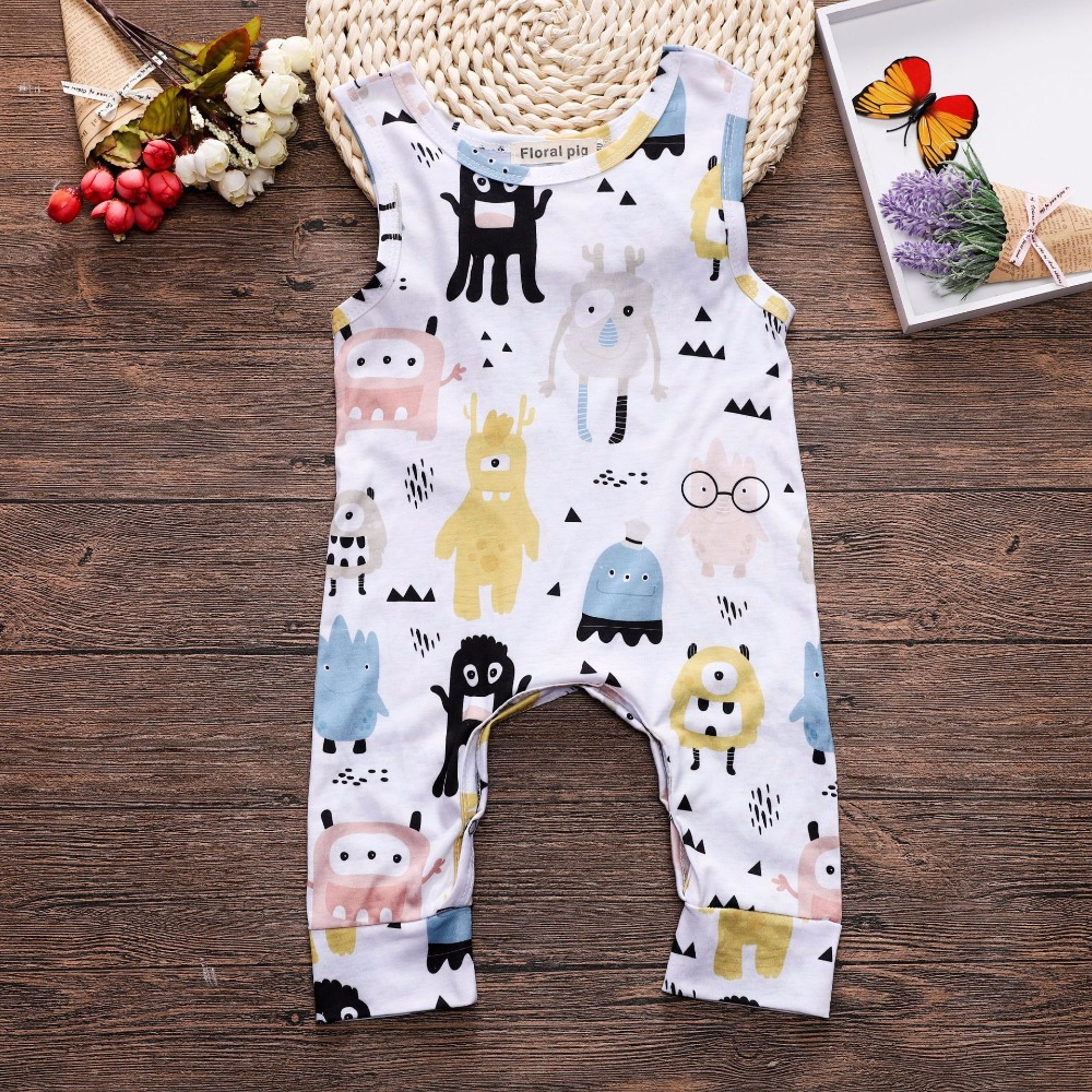 3-18 M Floral Romper Baby Girl 2018 Infant Boys Clothes 1 Pcs Cute Cartoon Print Casual Cute Toddler Jumpsuit Summer Outfits