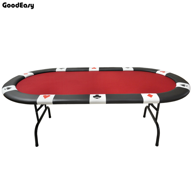 213*107*76cm Oval Casino Foldable Poker Table Texas Holdu0027em Baccarat Three  Fold With Waterproof Fabric Table Top + Tablel Feet In Gambling Tables From  ...