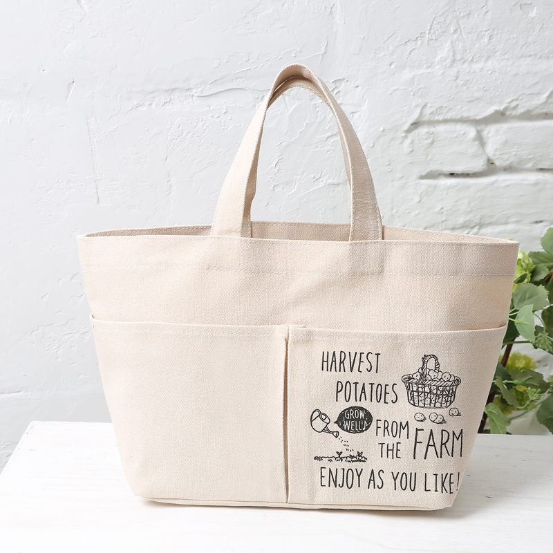 Canvas tote bag with front two pockets available for custom bags ...