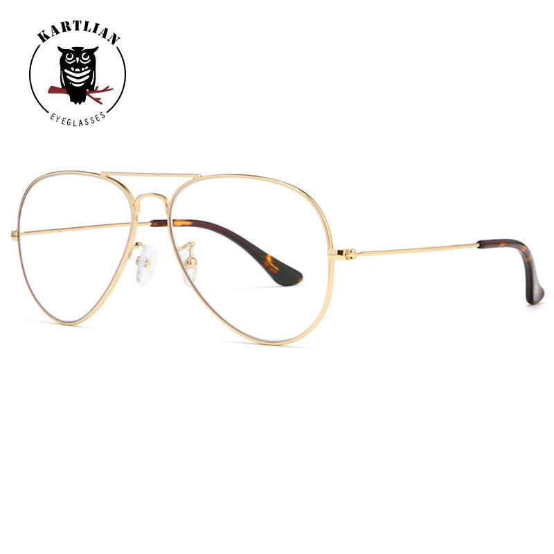3352aa1c56 ... Kartlian Alloy aviator Glasses Optical Frame Eyeglasses s prescription  lenses eyewear Men Women Clear Len spectacles