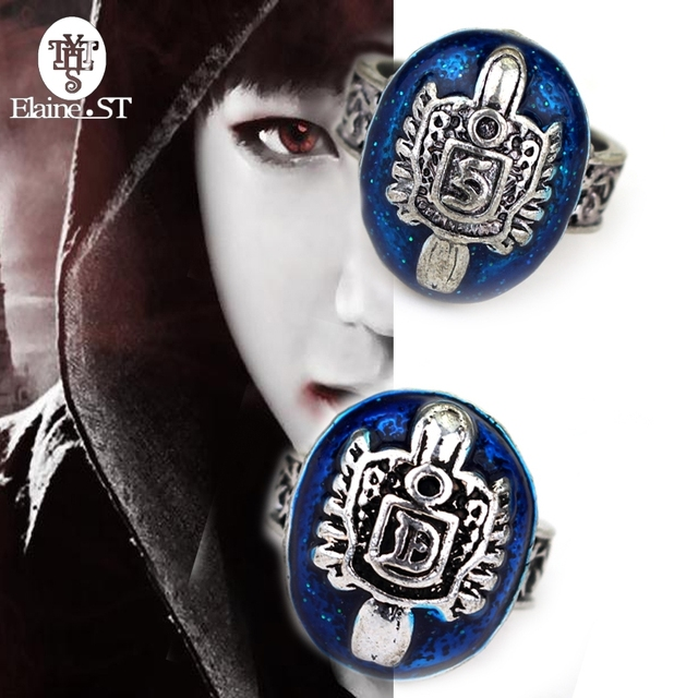 The Vampire Diaries Damon Salvatore Ring Sun Protectation Lapis lazuli  Jewelry for Man and Boy Women Ring Wholesale 10PCS LOT d62a36c764