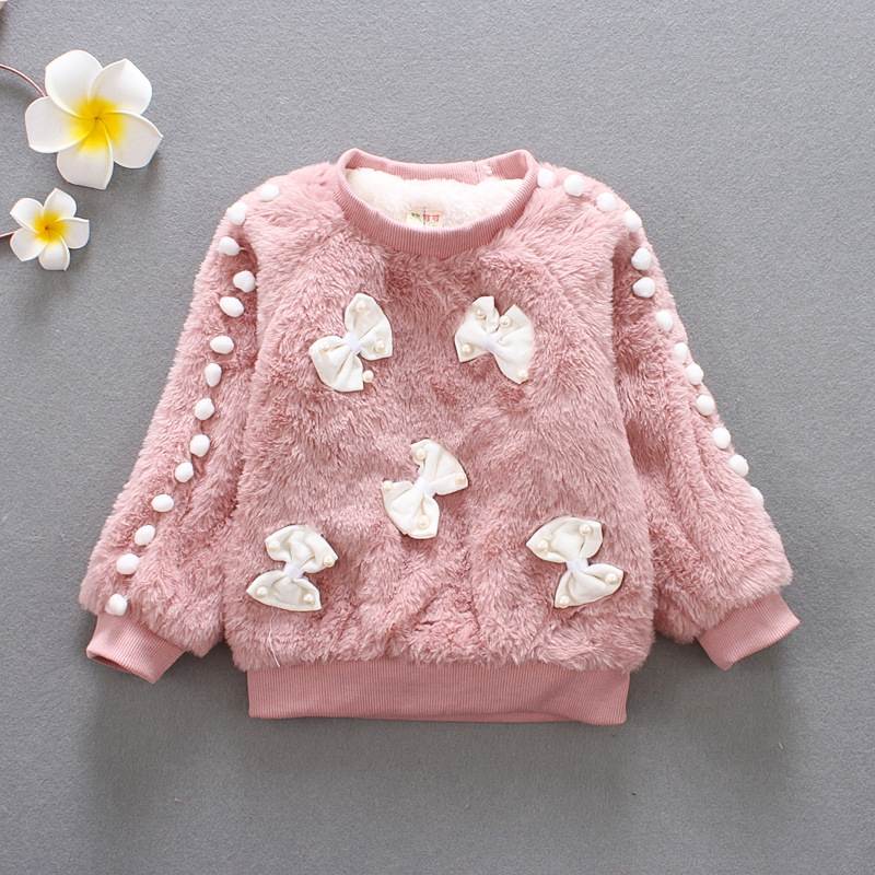 BibiCola girls winter sweater girl long sleeve clothes kids winter sweater for girls children fashion bow sweater coat. цена