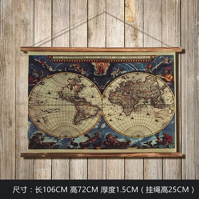 Large retro navigation map linen cloth painting scrolls poster mural large retro navigation map linen cloth painting scrolls poster mural paintings banners hanging art office loft gumiabroncs Choice Image