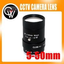 "MP HD 5 50mm CS LENS 1/3 ""IR CS Mount Varifocale Handmatige Iris CCTV Lens voor CCTV security Camera BOX"