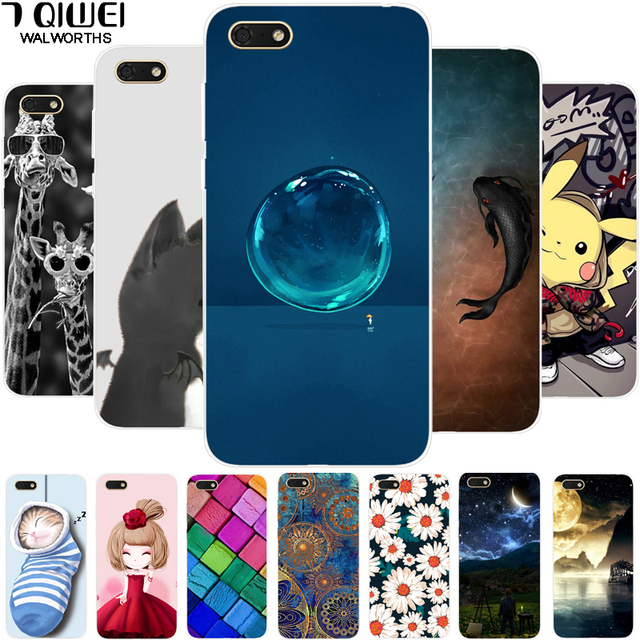 US $0 9 40% OFF|DRA LX5 For Huawei Y5 Lite 2018 Case 5 45'' Cute Cat Soft  Silicone TPU Phone Case for Huawei 2018 Y5 Lite Y5Lite Cover Animal-in