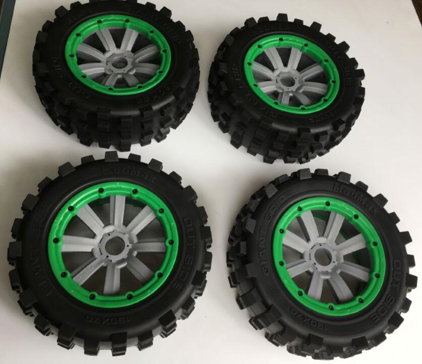 Anti-wear ALL TERRAIN 2 front 2 rear tire tyre wheel set for Losi 5ive-t 4pcs