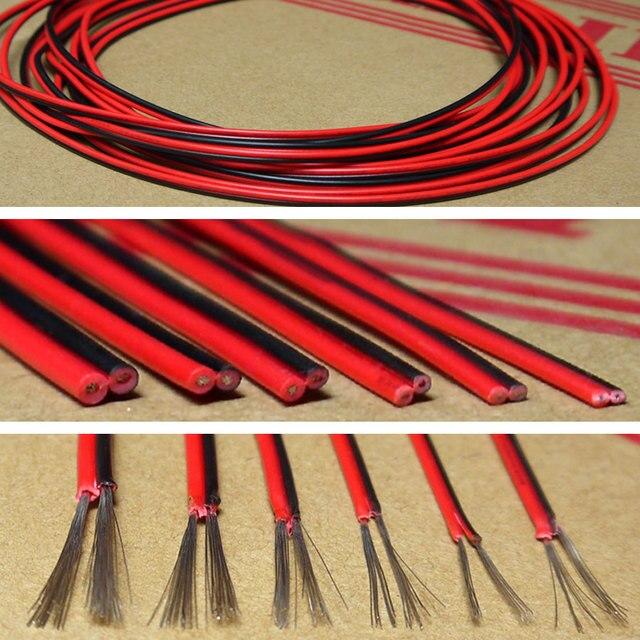 20AWG UL2468 PVC Schwarz rot Draht Isoliert Tinned Copper 2 Pin ...