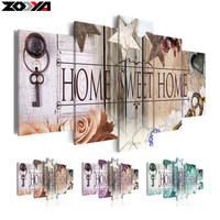 Zhui Star 5d Diy Diamond Embroidery Home Sweet Home Diamond Painting Cross Stitch Full Drill Rhinestone