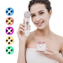 Etkili RF güzellik makinesi yüz kaldırma Led ışık terapisi Anti Aging EMS yüz boyun masaj mavi ışık akne bakımı yüz temizleme