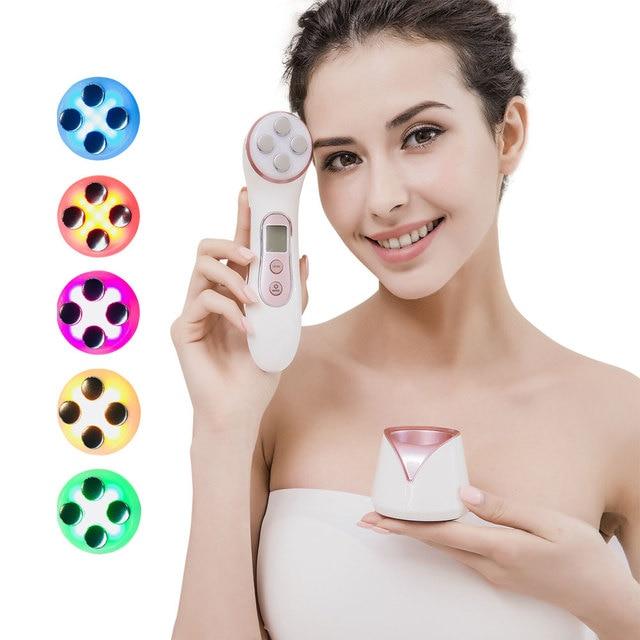 Machine de beauté RF efficace pour le Lifting du visage, thérapie par la lumière Led, Anti vieillissement, Massage avec lumière bleue, acné, nettoyage