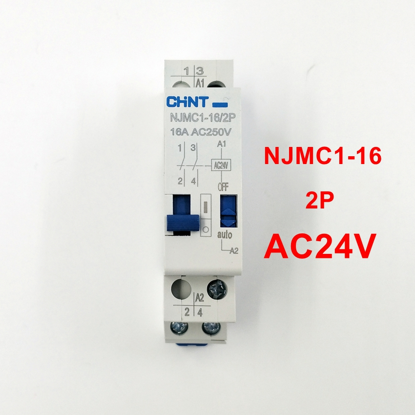 CHINT Pulse Relay NJMC1-16/2P 16A AC24V Relay
