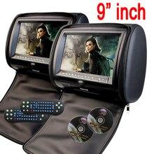 Автомобильные ПК подголовник 2 шт. Мониторы CD dvd-плеер Авторадио 9 дюймов цифровой Экран автомобиля Мониторы USB SD FM поддерживает ТВ игры ИК удаленного