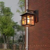 American Edison Retro Wall lamp Outdoor Wall Sconce Lighting Simple Waterproof Garden Wall Light Glass Porch Lights Lampara