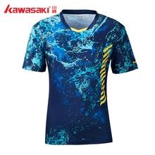 Kawasaki ST-S1104, дышащая футболка для бадминтона, Мужская быстросохнущая футболка с коротким рукавом, футболки для тренировок для мужчин, спортивная одежда