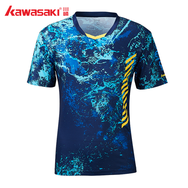 2019 Origina Kawasaki ST-S1104 Breathable Badminton T-Shirt Men Quick Dry Short-Sleeve Training T-Shirts For Male Sportswear
