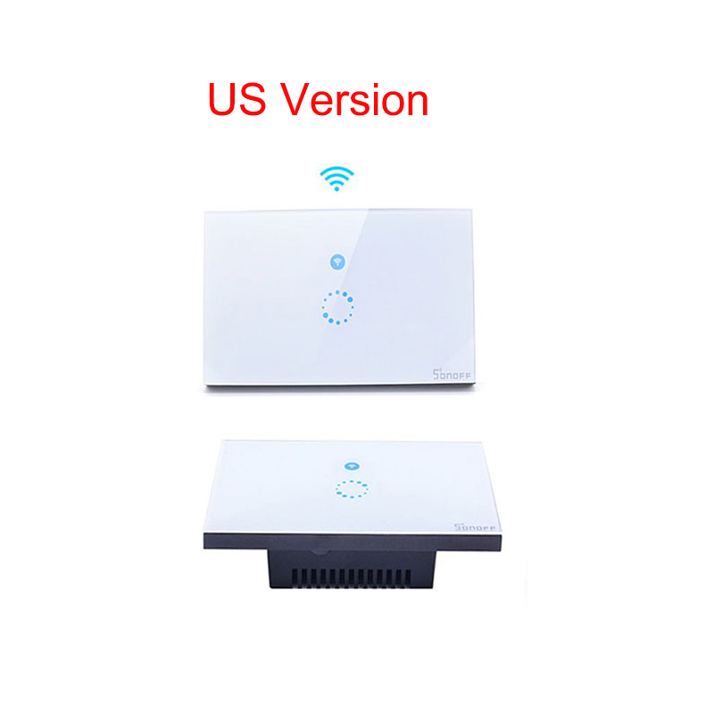 US Plug Sonoff Smart Touch Wifi Wall Touch Switch Remote Light Relay App  Control 1 Gang 1 Way Work with Alexa Google Home