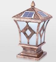 Открытый свет солнечной энергии открытый настенный светильник LED Post бытовой сад Водонепроницаемый свет