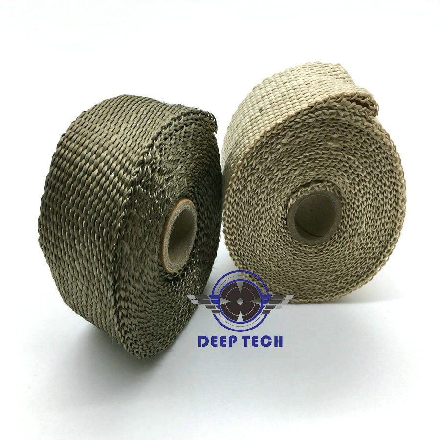 """Image 5 - 10m x  2"""" Free Shipping  Beige Exhaust Muffler Pipe Header Heat Resistant Exhaust Wrap With 10 Pcs Stainless Steel Cable Ties-in Exhaust & Exhaust Systems from Automobiles & Motorcycles"""