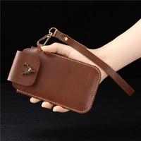 Vivo Z3x Belt Clip Holster Case Vivo V15 Pro Cover Genuine Leather Waist Bag Coque for Vivo S1 Pro X27 iQOO Y89 U1 y91 Y93 Lite