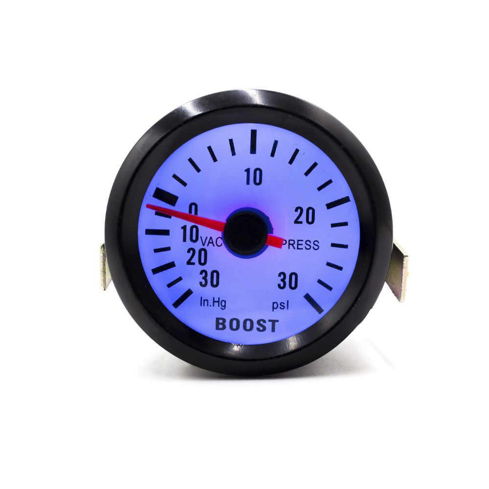"""CNSPEED 2 """"52mm 12V Mechanische Auto Turbo Boost Gauge-30 ~ 30PSI Black Turbo Boost Meter blauwe LED Auto Gauge Meter YC100010"""