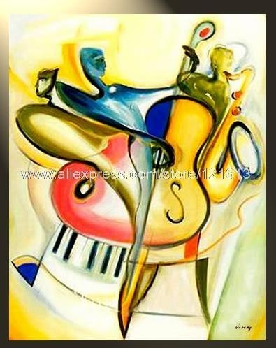 Peinture Contemporaine Tableau Moderne Contemporain Happy Concert - Abstract painting on canvas ideas
