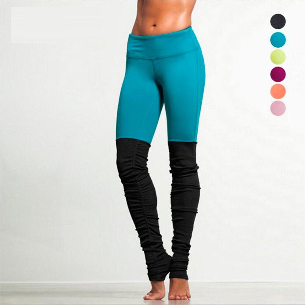 Hot Selling Solid Color Patchwork Fitness   Legging   Leggins For Women High Elastic Push Up Bodybuilding Jegging Dancing Long Pants