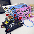 Crayon Shin Chan Women Messenger Bags Cartoon Big Eyes Bag Leather Handbags Ladies Clutch Bag Bolsa Feminina Bolsas Female