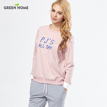 Green Home Maternity Pajamas 2pcs Sets Sleepwear for Pregnant Women 100%Cotton Breastfeeding Clothes Nursing Sets
