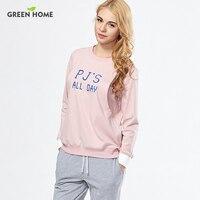 Green Home Maternity Pajamas 2pcs Sets Sleepwear For Pregnant Women 100 Cotton Breastfeeding Clothes Nursing Sets